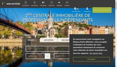 Site internet de Reseau Immo- Diffusion