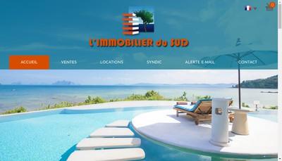 Site internet de Immobilier du Sud