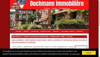 Site internet de Duchmann Immobiliere