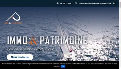 Site internet de Immo&Patrimoine