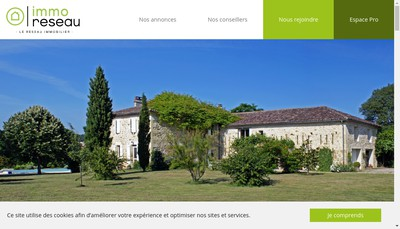 Site internet de Immo Reseau
