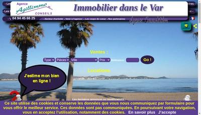 Site internet de Agence Agillimmo Conseils