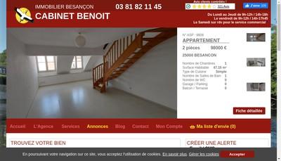 Site internet de Cabinet Benoit