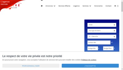 Site internet de Carrez Immobilier