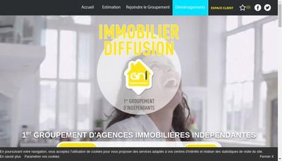 Site internet de Immobilier Diffusion