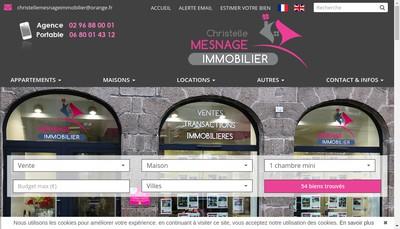 Site internet de Christelle Mesnage Immobilier