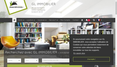 Site internet de GL Immobilier