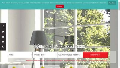 Site internet de Immobilier Sud Gironde