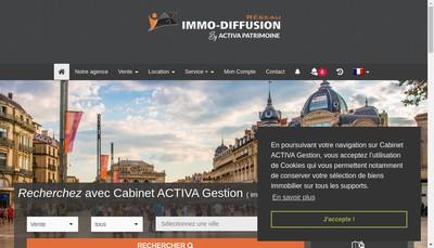 Site internet de Activa Gestion