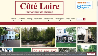 Site internet de Cote Loire