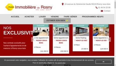 Site internet de Immobiliere de Rosny