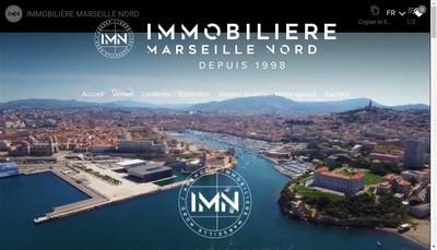 Site internet de Immobiliere Marseille Nord