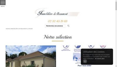 Site internet de Immobiliere de Beaumont
