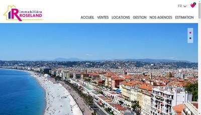 Site internet de L'Immobiliere de Roseland