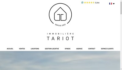 Site internet de Immobiliere Tariot