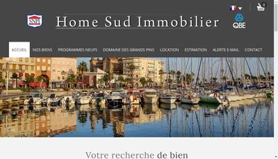 Site internet de Home Sud Immobilier