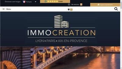 Site internet de Immocreation