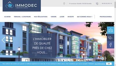 Site internet de Immodec Transactions