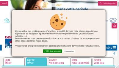 Site internet de Immo de France Paris Ile de France