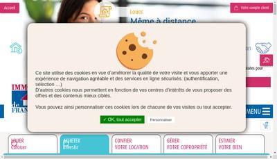 Site internet de Immo de France Rhone Alpes