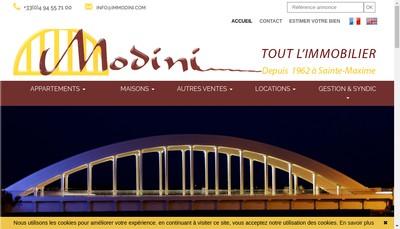 Site internet de Modini et Fils