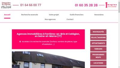 Site internet de Imagine Immobilier