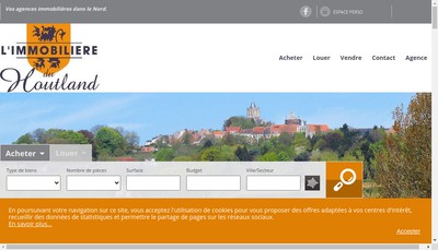Site internet de Agence Immobiliere du Houtland