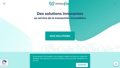Site internet de Immofix