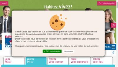 Site internet de Immo de France