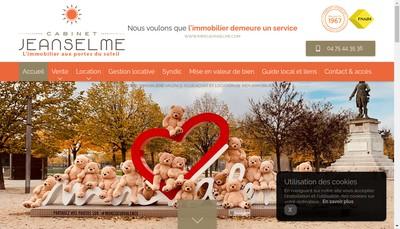 Site internet de Cabinet Jeanselme