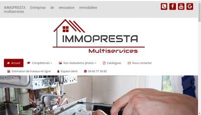 Site internet de Immo Presta