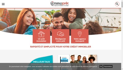 Site internet de Immopret France