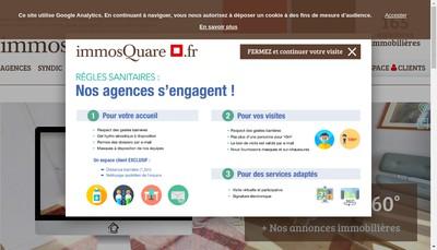 Site internet de Immosquare