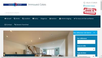 Site internet de Immouest Calais