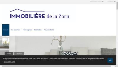 Site internet de Immobiliere de la Zorn