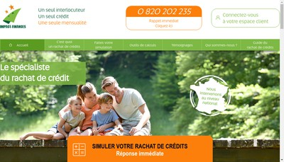 Site internet de Impact Finances