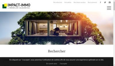 Site internet de Impact Immo Boulogne