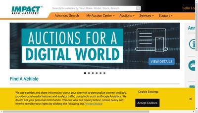 Site internet de Impact Auto