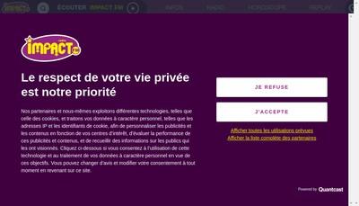 Site internet de Radio Impact Fm