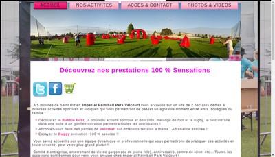 Site internet de SAS Imperial Paintball Park