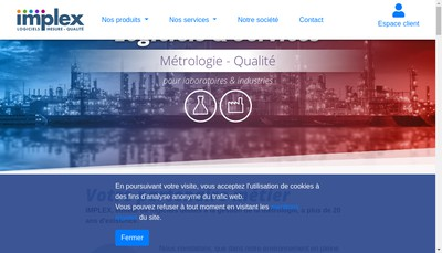 Site internet de Implex