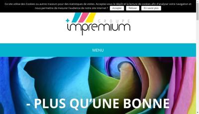 Site internet de Groupe Impremium