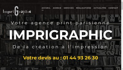 Site internet de Imprigraphic