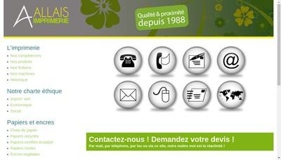Site internet de Imprimerie Jean Allais
