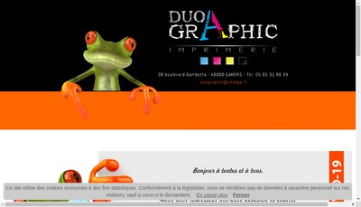 Site internet de Duo Graphic Imprimerie