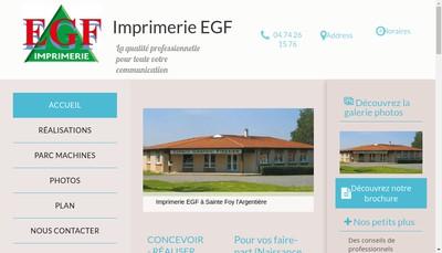 Site internet de Imprimerie EGF