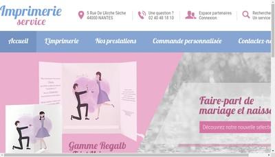 Site internet de Imprimerie Service