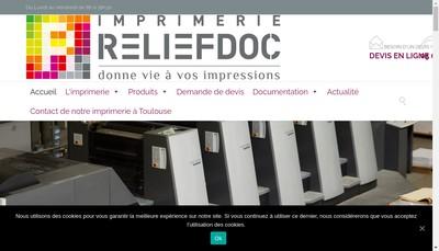 Site internet de Reliefdoc
