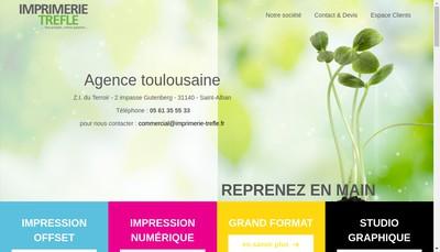 Site internet de Imprimerie Trefle