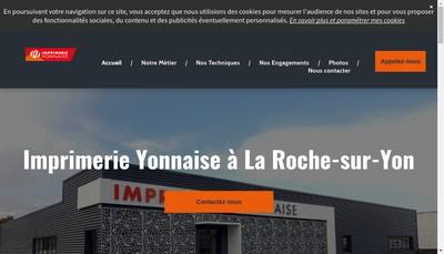 Site internet de Imprimerie Yonnaise